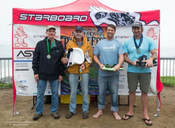 Waveski Finalists. 1 Mike Wessesls, 2 Ian Macleod, 3 Ed King, 4 Ken King.