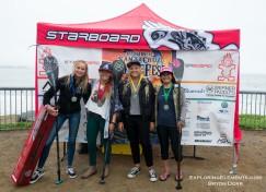Womens SUP Finalists. 1 Annie Reickert, 2 Fiona Wylde, 3 Izzi Gomez, 4 Kali'a Alexiou
